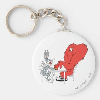 BUGS BUNNY™ and Gossamer 2 Basic Round Button Keychain