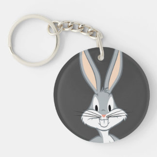 BUGS BUNNY™ | Bunny Stare Double-Sided Round Acrylic Keychain