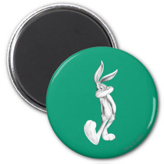 BUGS BUNNY™ Drawng 2 2 Inch Round Magnet