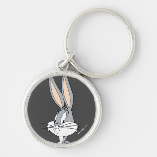BUGS BUNNY™ | Hands on Hips Silver-Colored Round Keychain