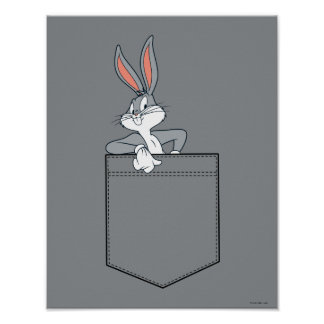 BUGS BUNNY™ Hanging Out In Pocket Poster
