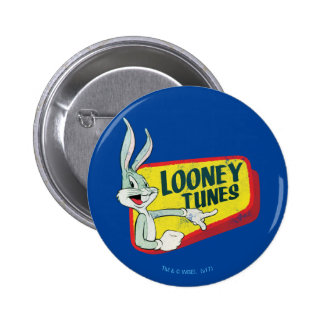 BUGS BUNNY™ LOONEY TUNES™ Retro Patch 2 Inch Round Button