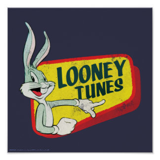 BUGS BUNNY™ LOONEY TUNES™ Retro Patch Poster