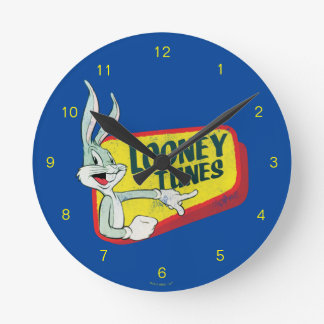BUGS BUNNY™ LOONEY TUNES™ Retro Patch Wall Clocks