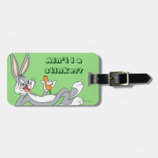 BUGS BUNNY™ Lying Down Eating Carrot Bag Tag