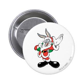 Bugs Bunny Santa Waving Pin