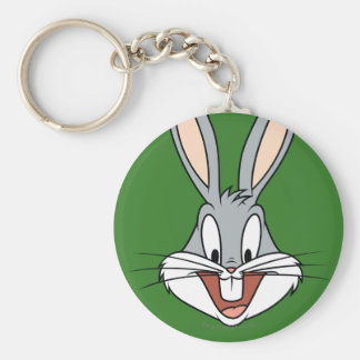 BUGS BUNNY™ Smiling Face Basic Round Button Keychain