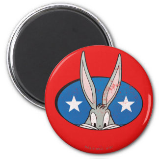 BUGS BUNNY™ Stars Badge 2 Inch Round Magnet