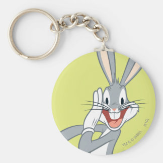 BUGS BUNNY™ Whispering 2 Basic Round Button Keychain