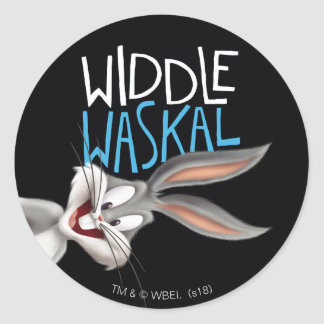 BUGS BUNNY™- Widdle Waskal Classic Round Sticker