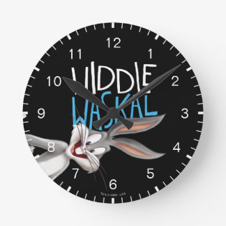 BUGS BUNNY™- Widdle Waskal Round Clock