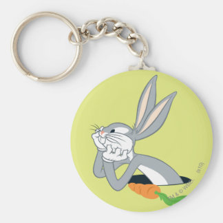 BUGS BUNNY™ with Carrot Basic Round Button Keychain
