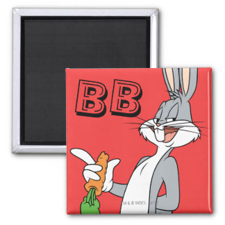 BUGS BUNNY™ With Carrot Square Magnet