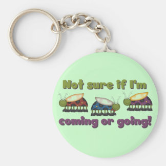 Bugs Coming and Going Tshirts and Gifts Basic Round Button Keychain