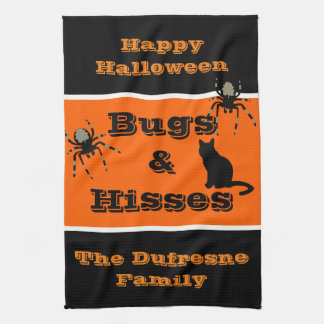Bugs & Hisses Personalized Halloween Kitchen Towel