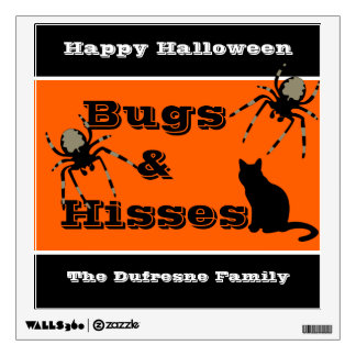 """Bugs & Hisses"" Personalized Halloween Wall Sticker"