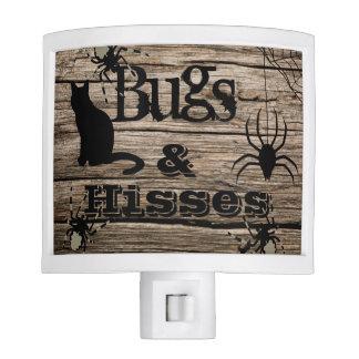 """Bugs & Hisses"" Rustic Halloween Night Light"