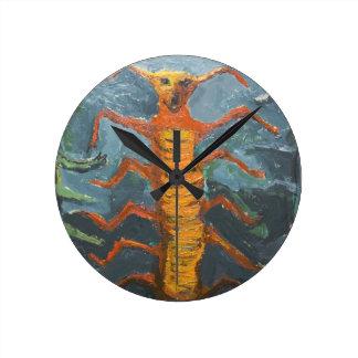 Bugs in Chorus (odd surrealism painting) Clock