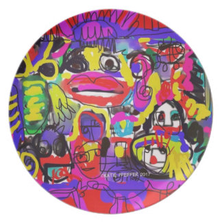 Bugs in The White House Abstract Party Plate