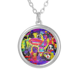 Bugs in The White House Abstract Silver Plated Necklace