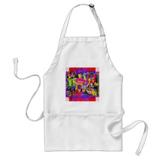 Bugs in The White House Abstract Standard Apron