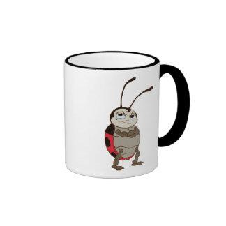 Bug's Life Francis male ladybug arms folded angry Ringer Coffee Mug