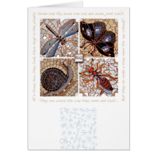 Bugs mosaic with poem card