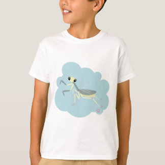 Bugzter - Praying Mantis on Light Blue T-Shirt