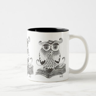 buho - owl Two-Tone coffee mug