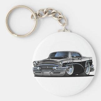 Buick Century Black Car Basic Round Button Keychain