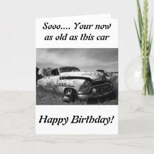 Vintage Car Happy Birthday Invitations Stationery Zazzle CA - Classic car invitations