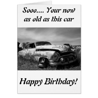 Buick Classic Car Greeting Card