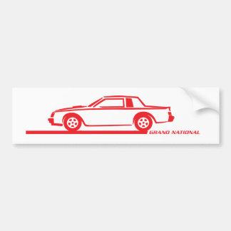 Buick Grand National Red Car Bumper Sticker