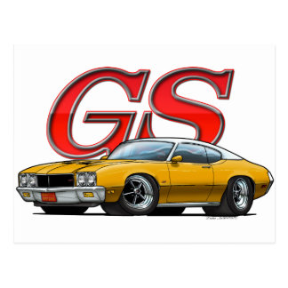 Buick GS_Gold VW Postcard
