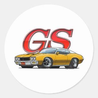 Buick GS_Gold VW Round Sticker
