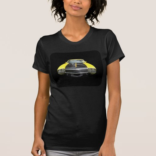 Buick GS Yellow four headlight racing stripes Tshirt