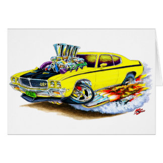 Buick GSX Yellow Car Card
