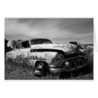 Buick in a Junkyard Greeting Card