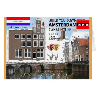 Build an Amsterdam Canal House Cut & Fold Card