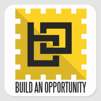 build an opportunity square sticker