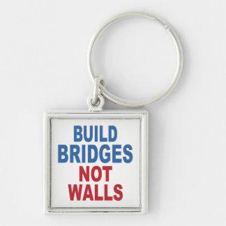 """Build Bridges Not Walls"" key chain"