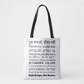 Build Bridges Stylish Tote