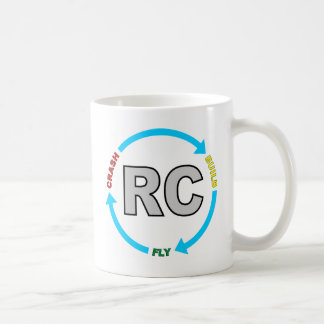 Build Crash Fly RC Classic White Coffee Mug