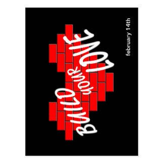 build love postcard