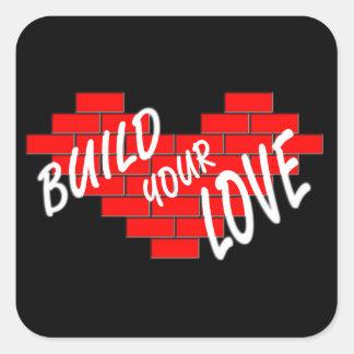 build love square sticker