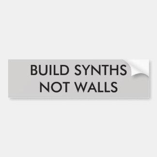 Build Synths Not Walls Sticker Bumper Sticker
