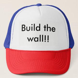 Build the wall cap