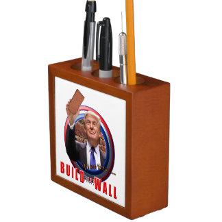 Build the Wall Trump Desk Pen Organizer 2017