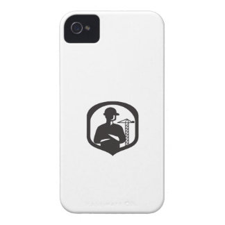 Builder Arms Folded Boom Crane Crest Retro Case-Mate iPhone 4 Case