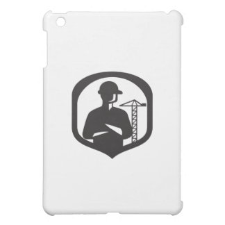 Builder Arms Folded Boom Crane Crest Retro iPad Mini Cover